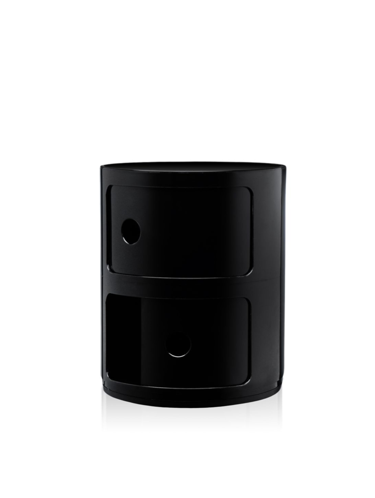 Kartell Componibili 2 Drawer Tower Black