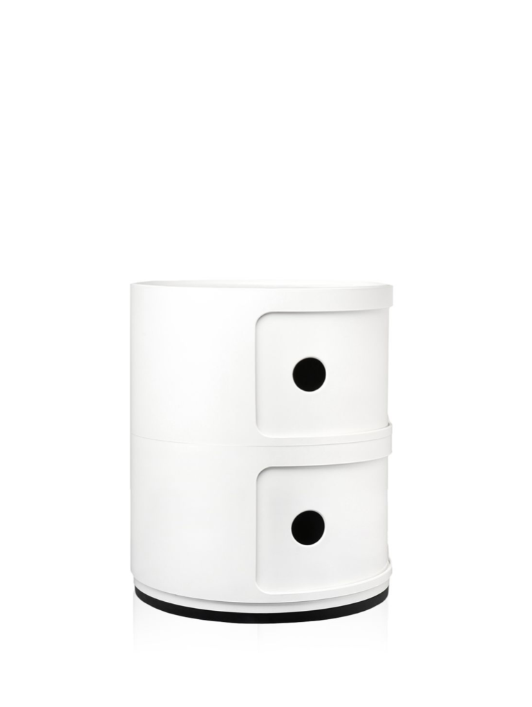 Kartell Componibili 2 Drawer Tower White