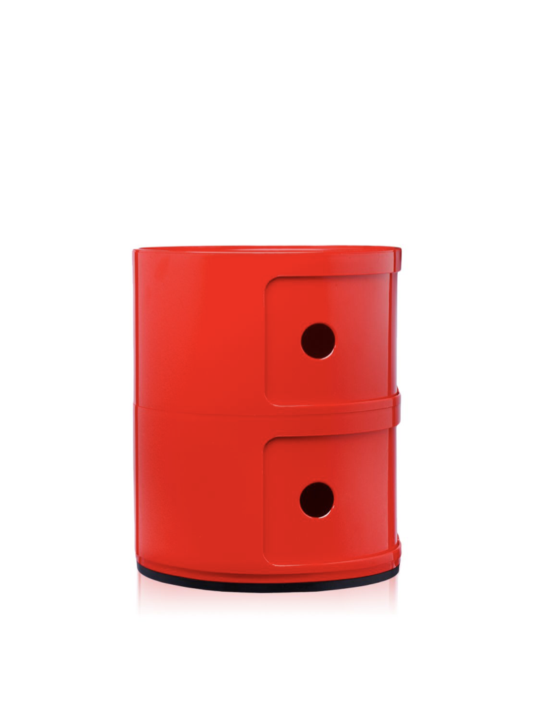 Kartell Componibili 2 Drawer Tower Red