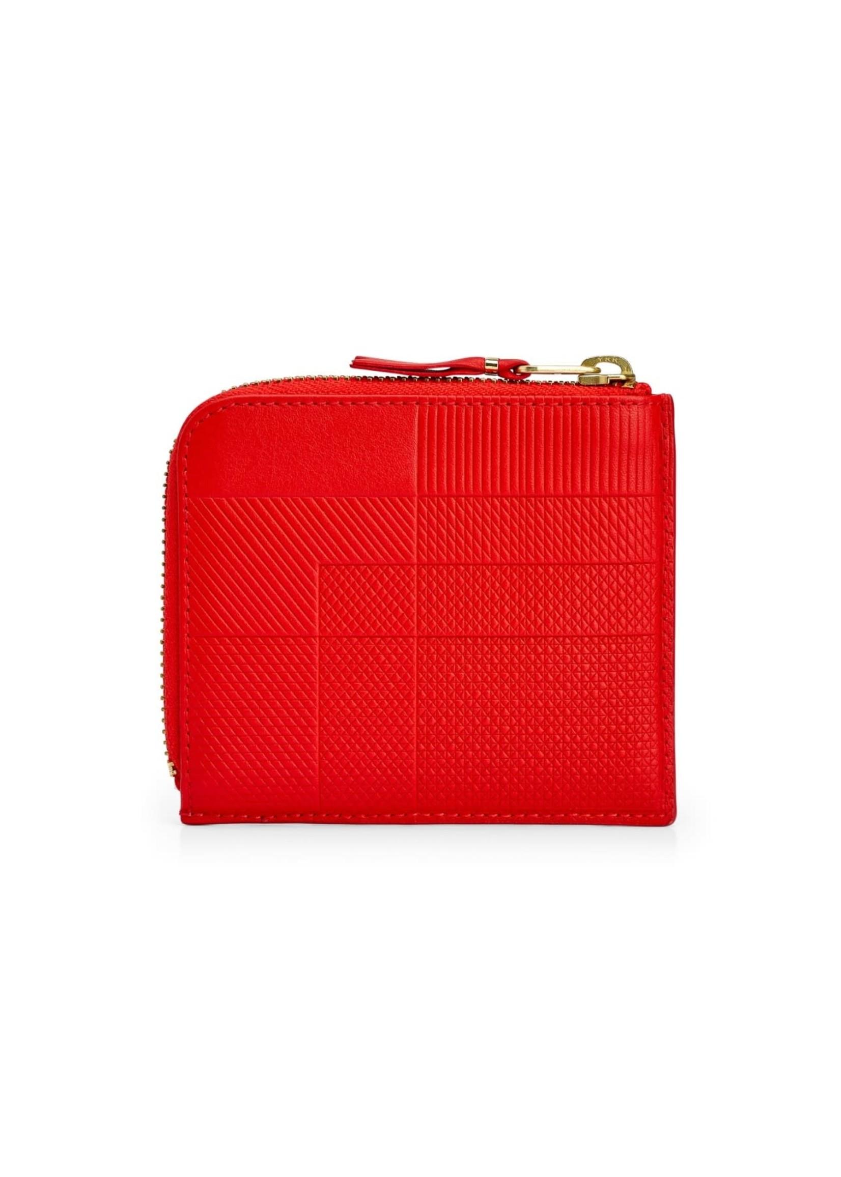 COMME des GARÇONS WALLET ntersection Lines 1/2 Zip Wallet Red SA3100LS