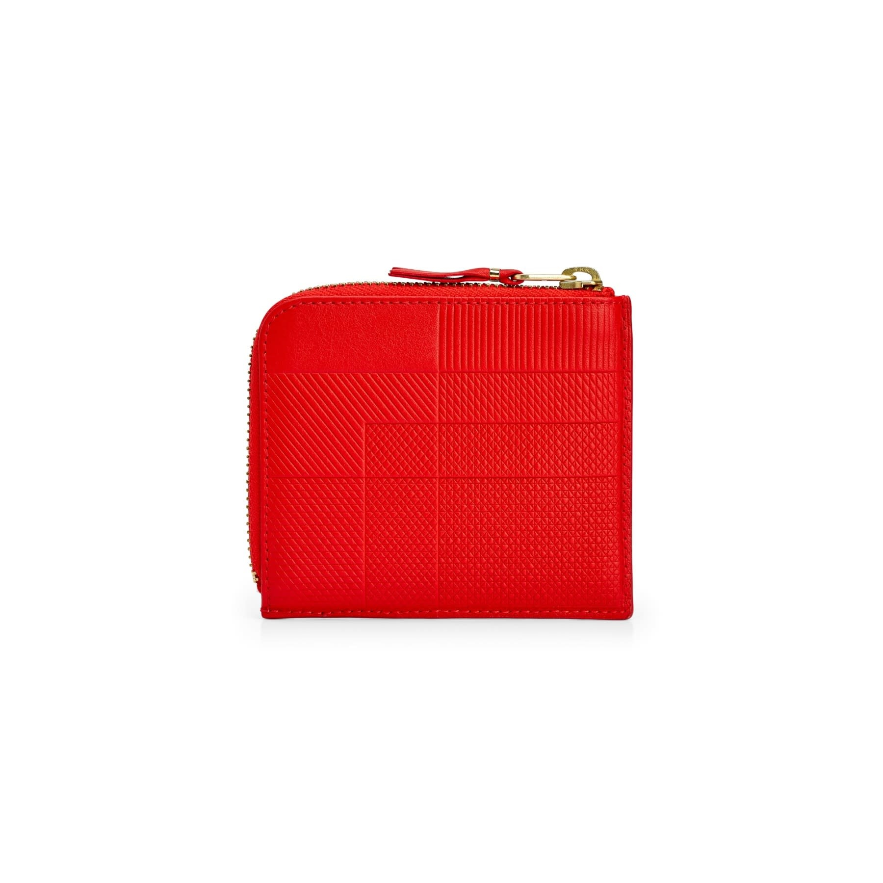 COMME des GARÇONS WALLET ntersection Lines 1/2 Zip Wallet Red SA3100LS