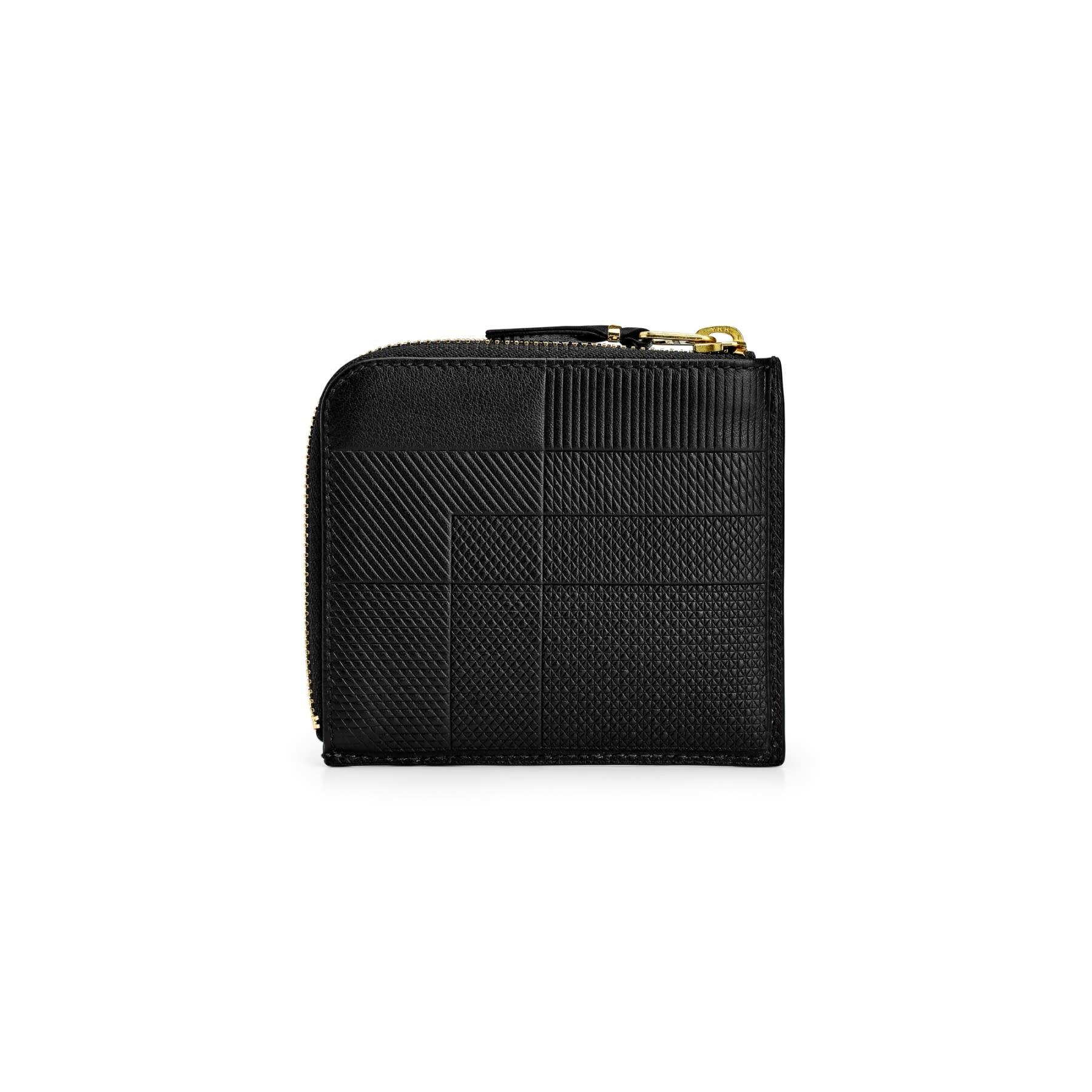 COMME des GARÇONS WALLET Intersection Lines 1/2 Zip Wallet Black SA3100LS