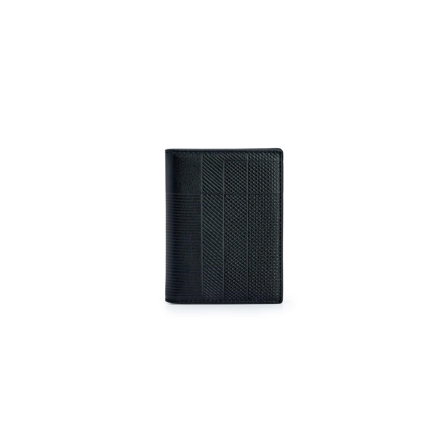 COMME des GARÇONS WALLET Intersection Lines Bifold Black SA0641LS