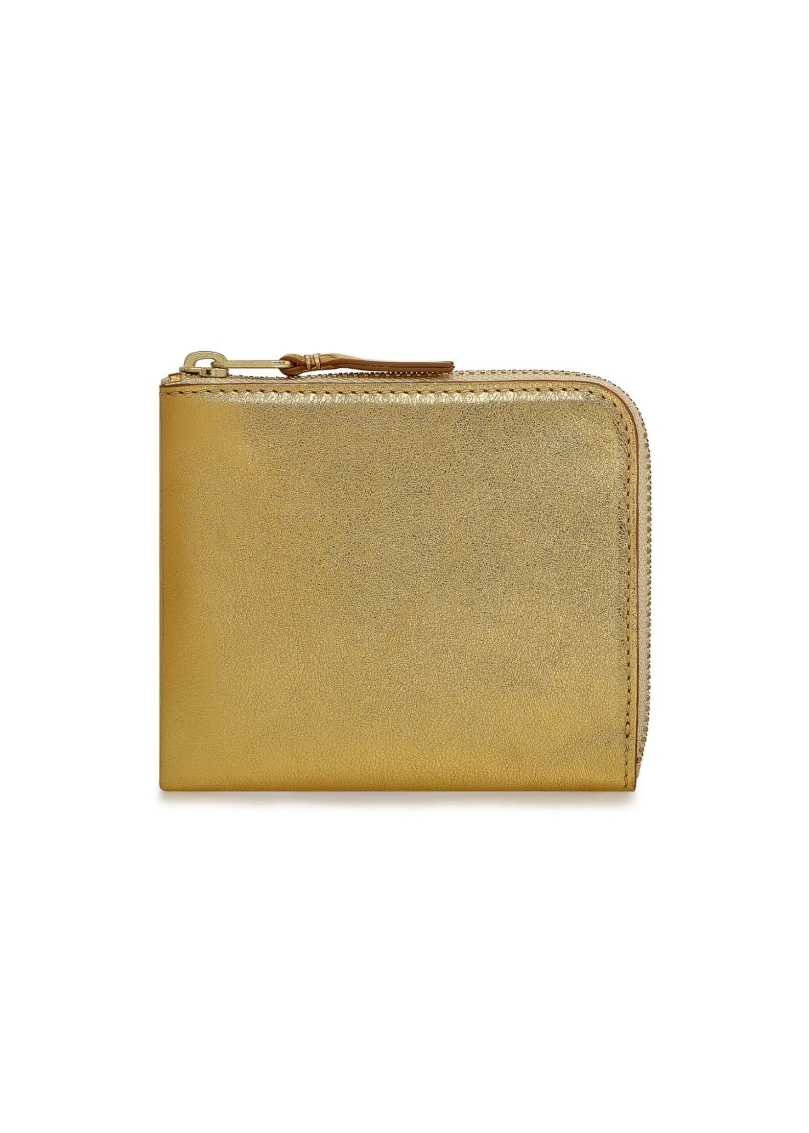 COMME des GARÇONS WALLET 1/2 Zip Wallet Gold Foil SA3100G
