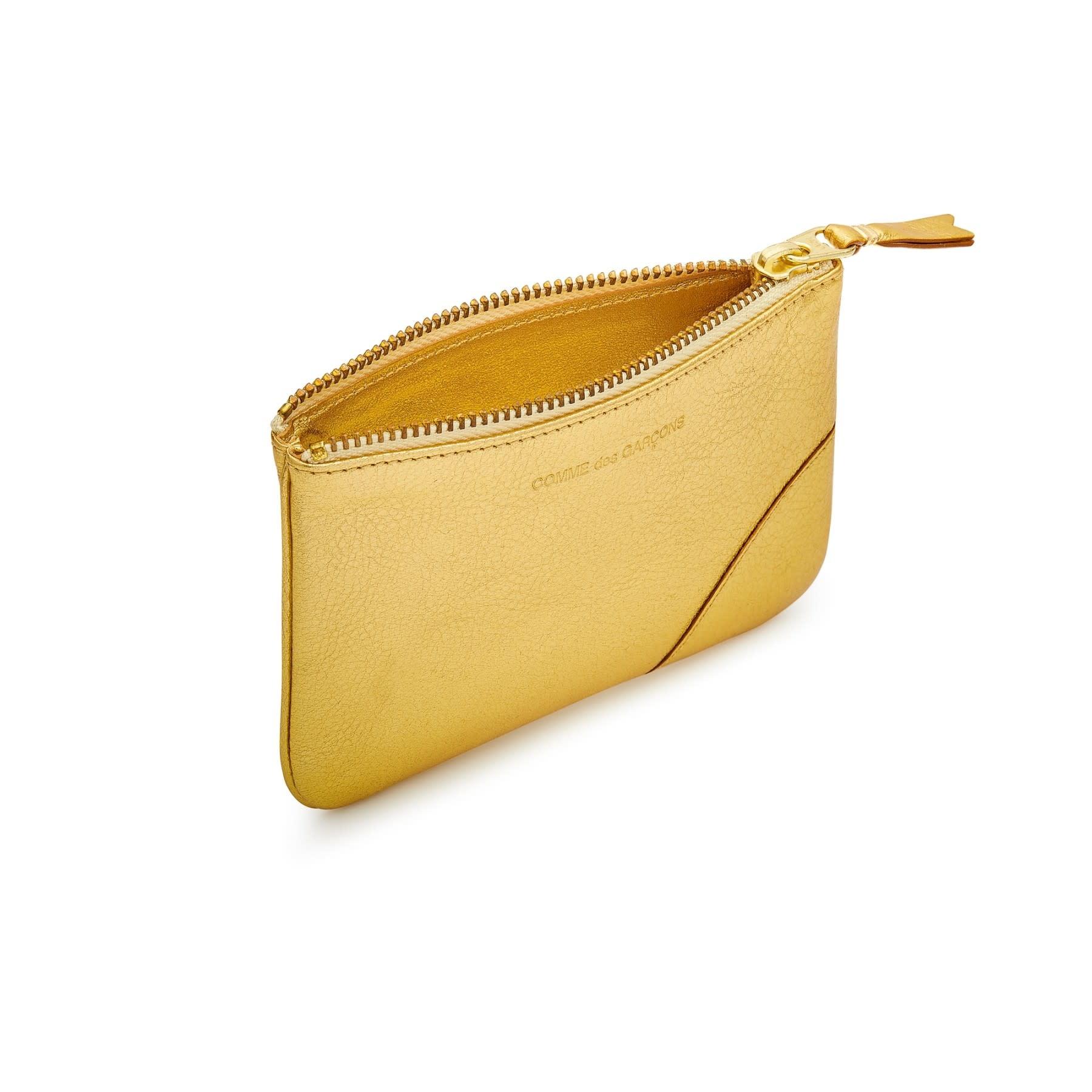 COMME des GARÇONS WALLET Small Zip Pouch Gold Foil SA8100G