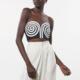Mara Hoffman Mati Top in black and white