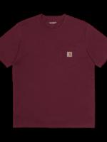 Carhartt Work In Progress Carhartt WIP Pocket T-shirt in Bordeaux