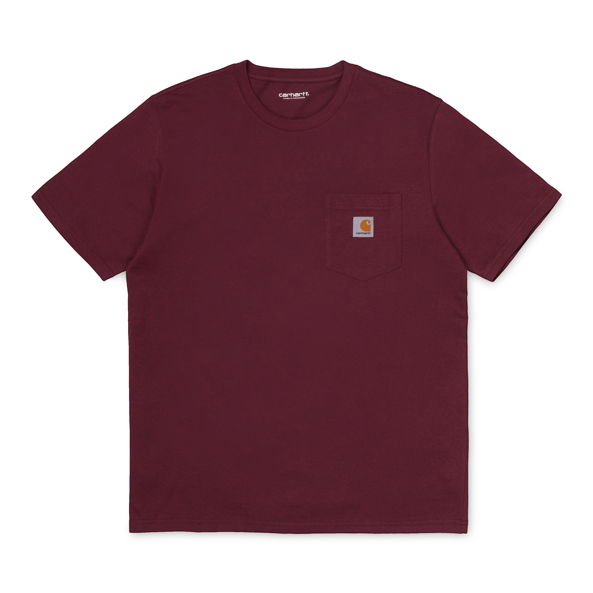Carhartt Work In Progress Pocket T-shirt in Bordeaux