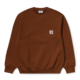 Carhartt Work In Progress Pocket Crewneck Sweatshirt in Brandy