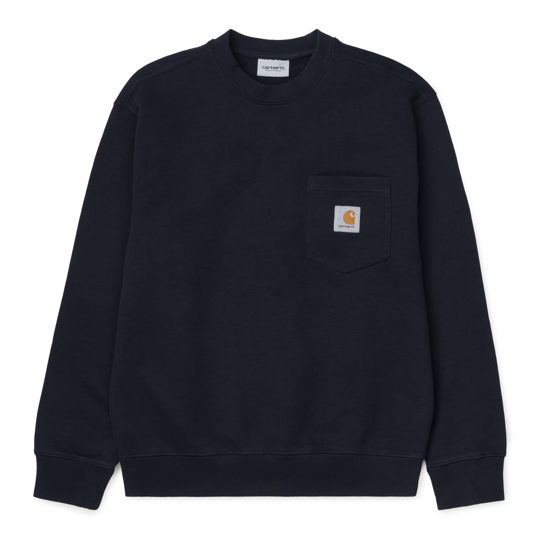Carhartt Work In Progress Pocket Crewneck Sweatshirt in Dark Navy