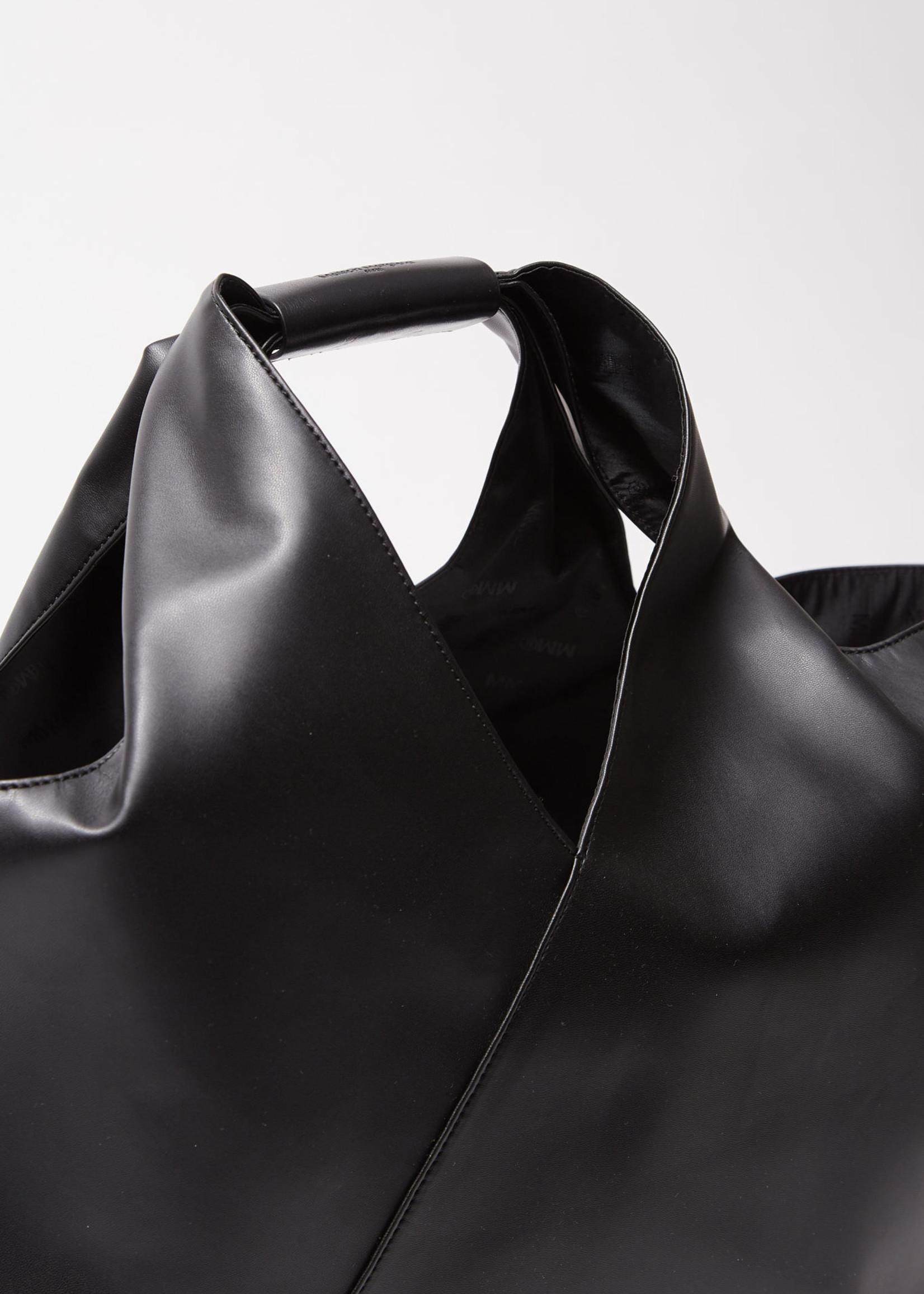 MM6 MAISON MARGIELA MM6 Maison Margiela Folded Japanese Tote in Black Vegan Leather