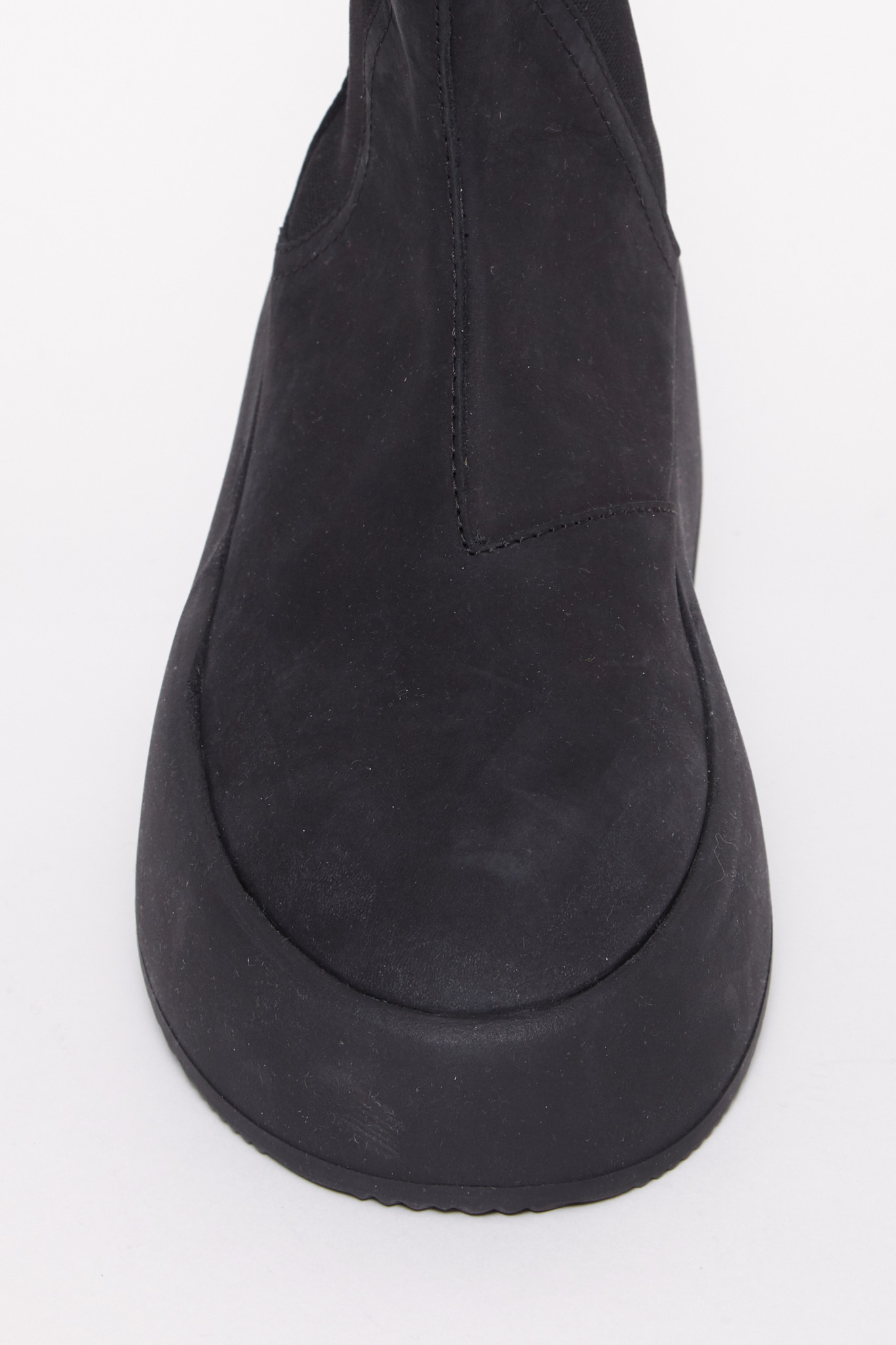 MM6 MAISON MARGIELA  Platform Hightop Sneaker in Black Suede
