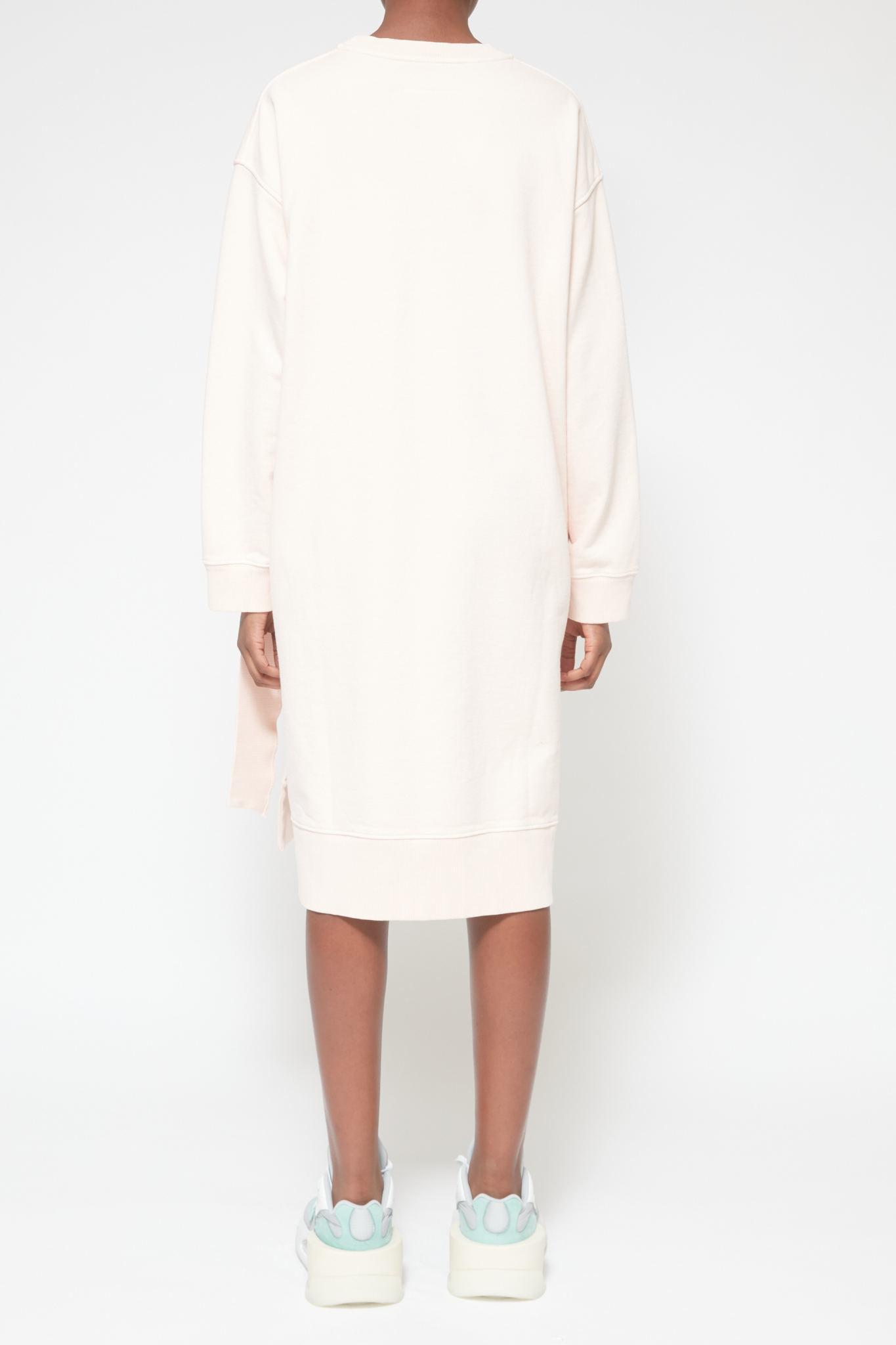 MM6 MAISON MARGIELA Layered Sweatshirt Dress in Blush