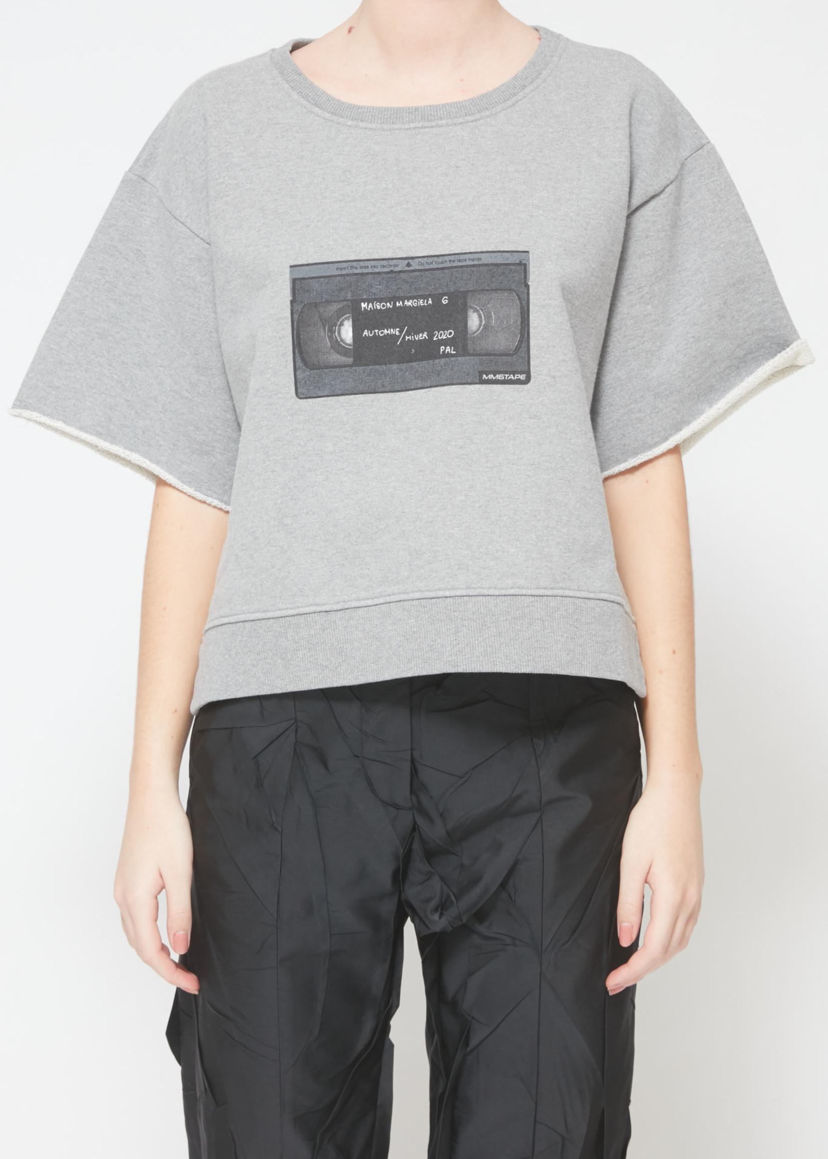 MM6 MAISON MARGIELA VHS Sweatshirt in Heather Grey