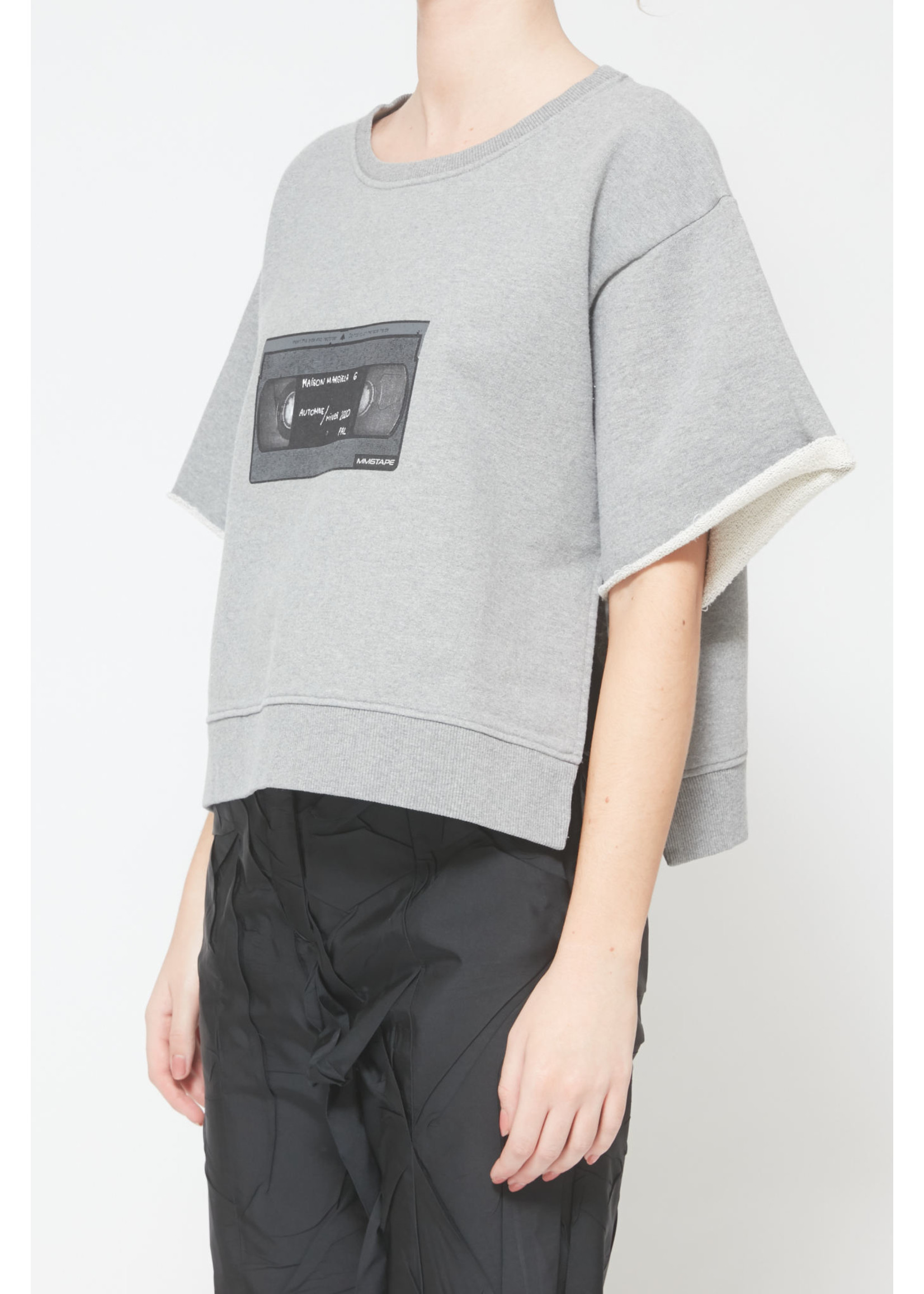 MM6 MAISON MARGIELA VHS Sweatshirt in Heather Grey