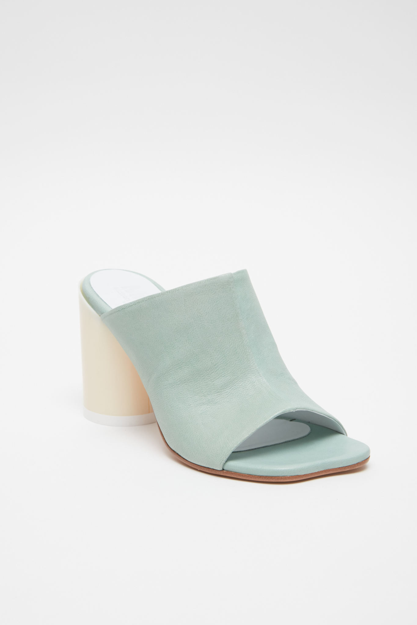 MM6 MAISON MARGIELA Anatomic Mules in Green and Bone