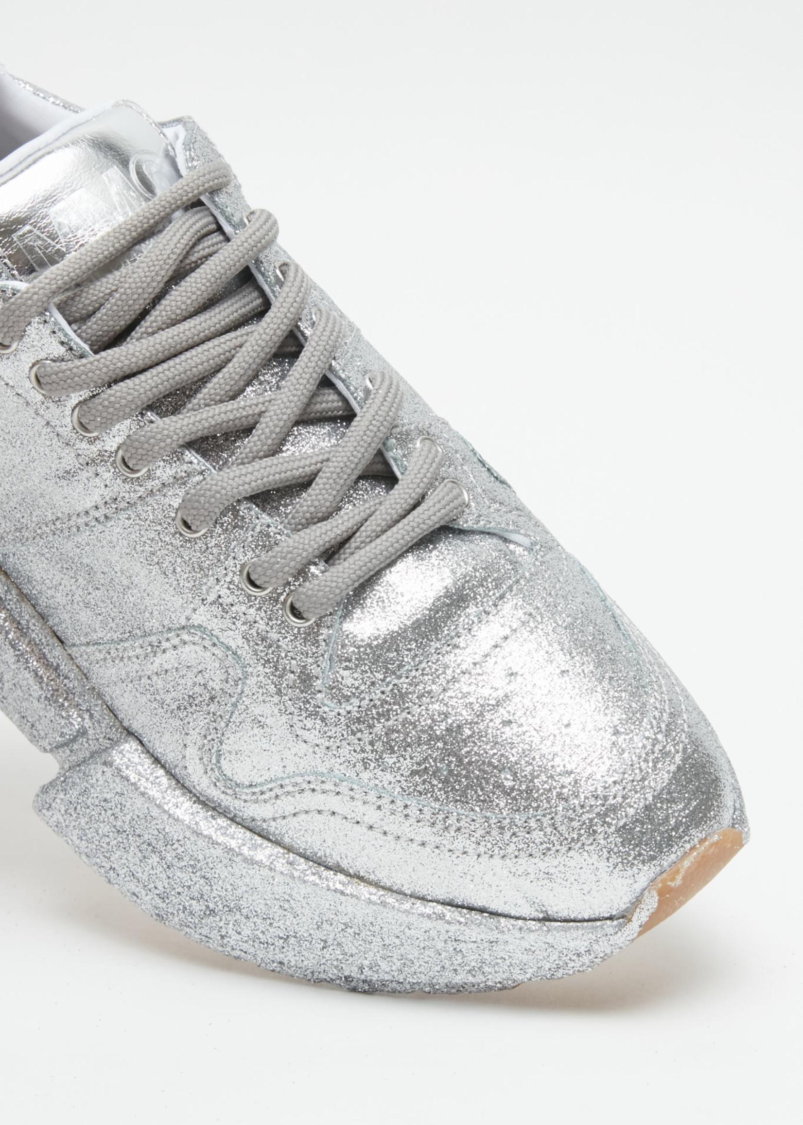 MM6 MAISON MARGIELA Silver Glitter Dipped Sneakers
