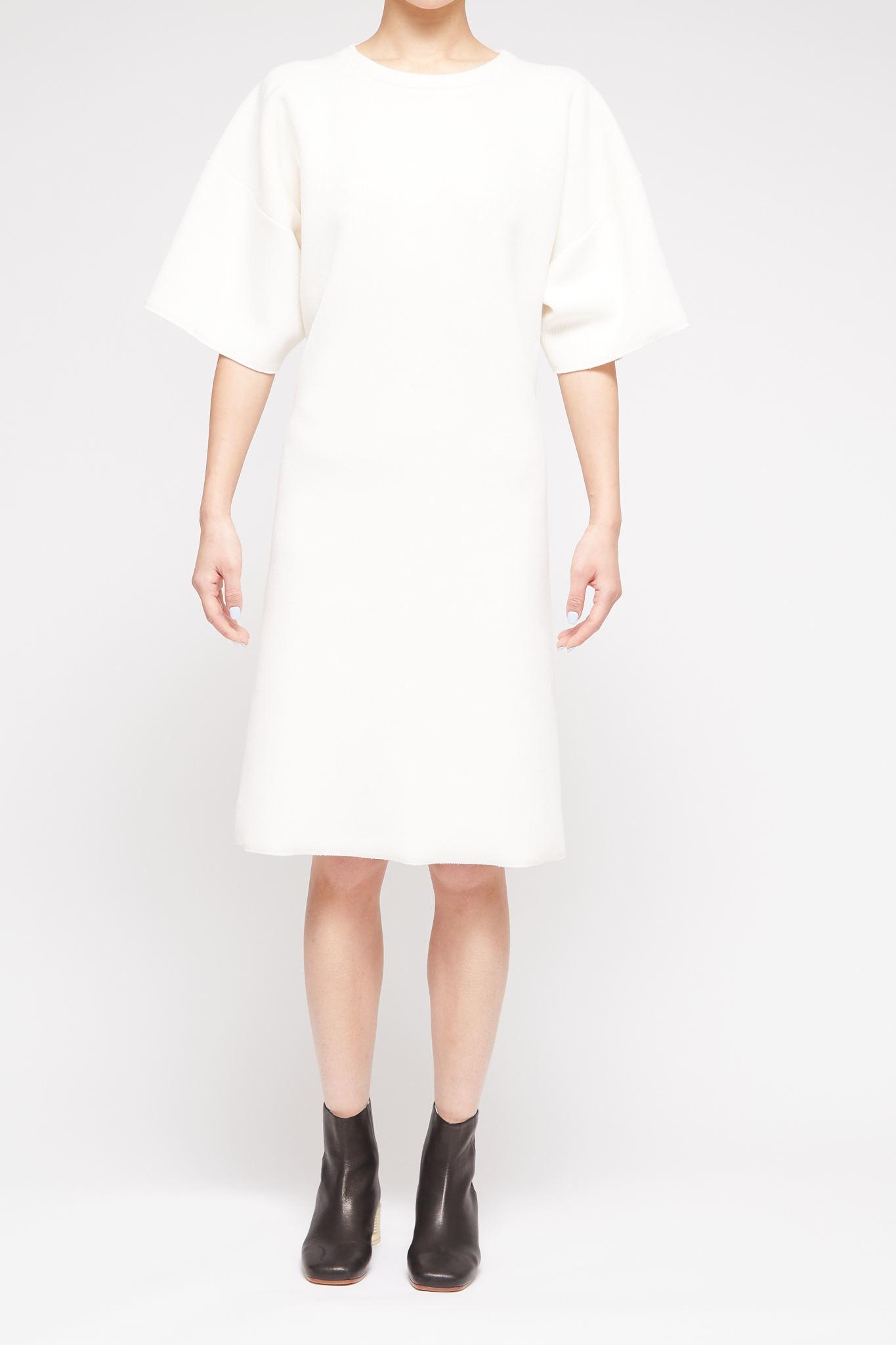 MM6 MAISON MARGIELA Open Back Dress in Cream