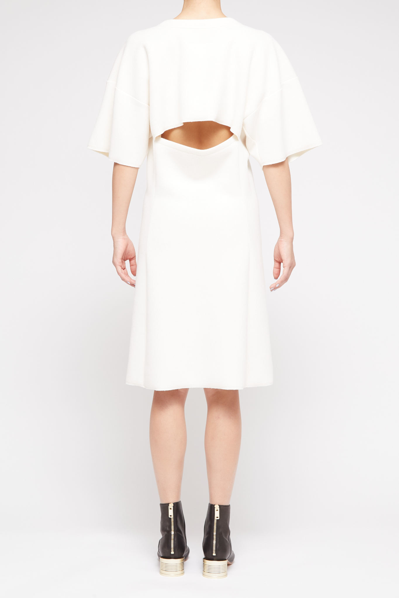 MM6 MAISON MARGIELA Open Back Dress in Cream