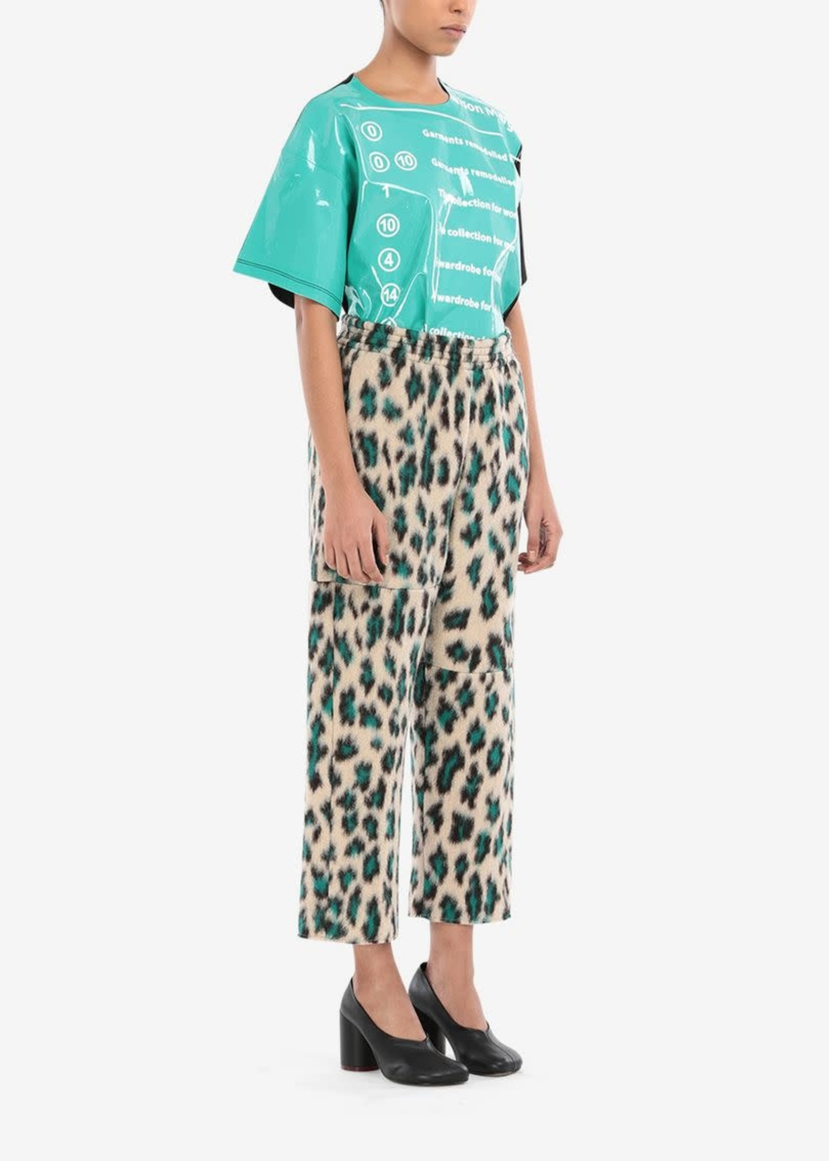 MM6 MAISON MARGIELA Leopard Jacquard Cropped Pants