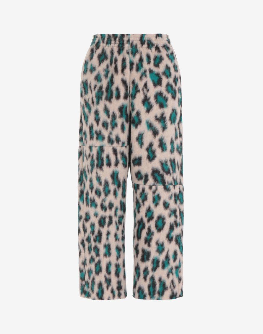 MM6 MAISON MARGIELA Leopard Jacquard Cropped Pants