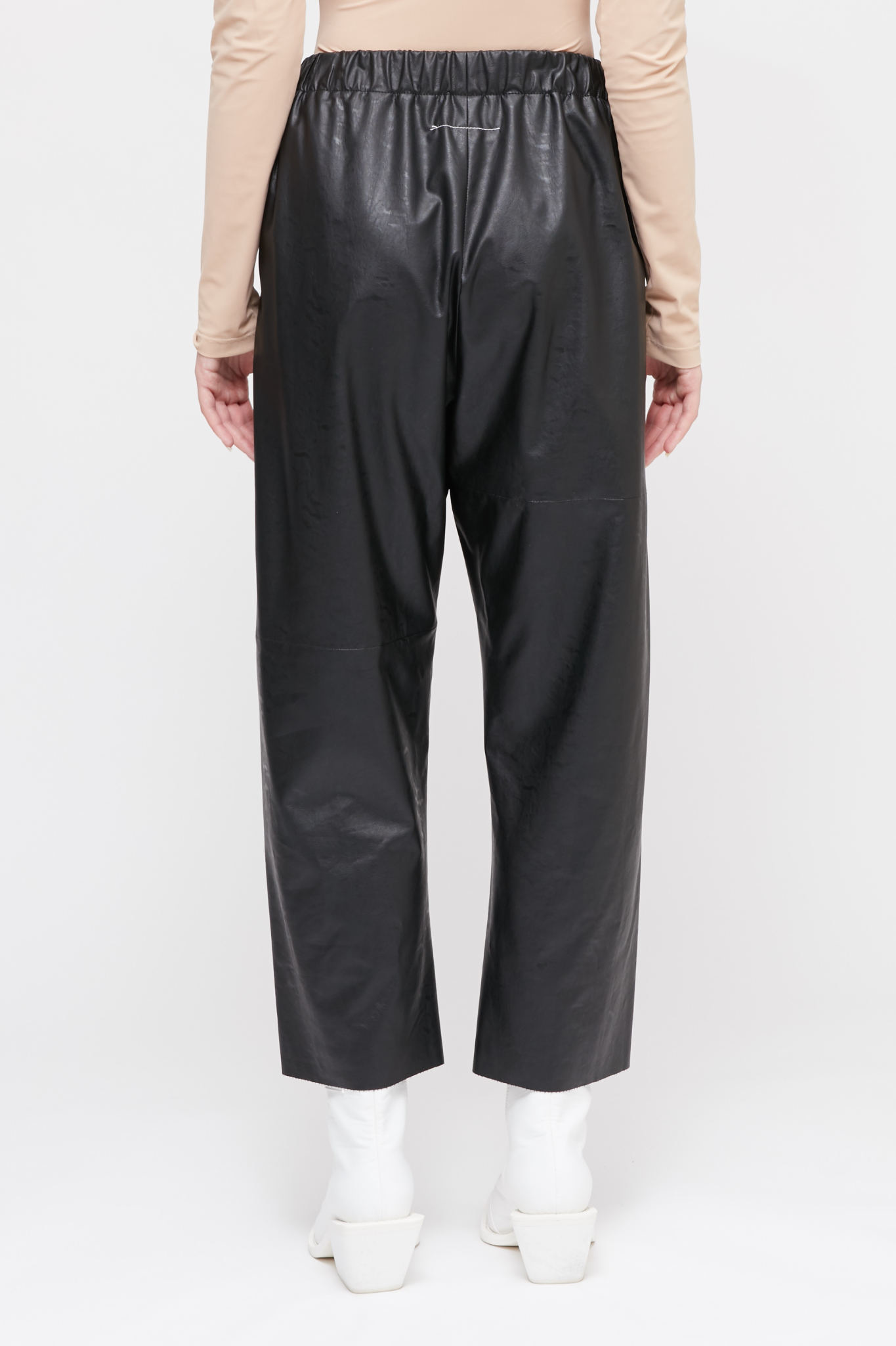 MM6 MAISON MARGIELA MM6 MAISON MARGIELA Vegan Leather Cropped Pants