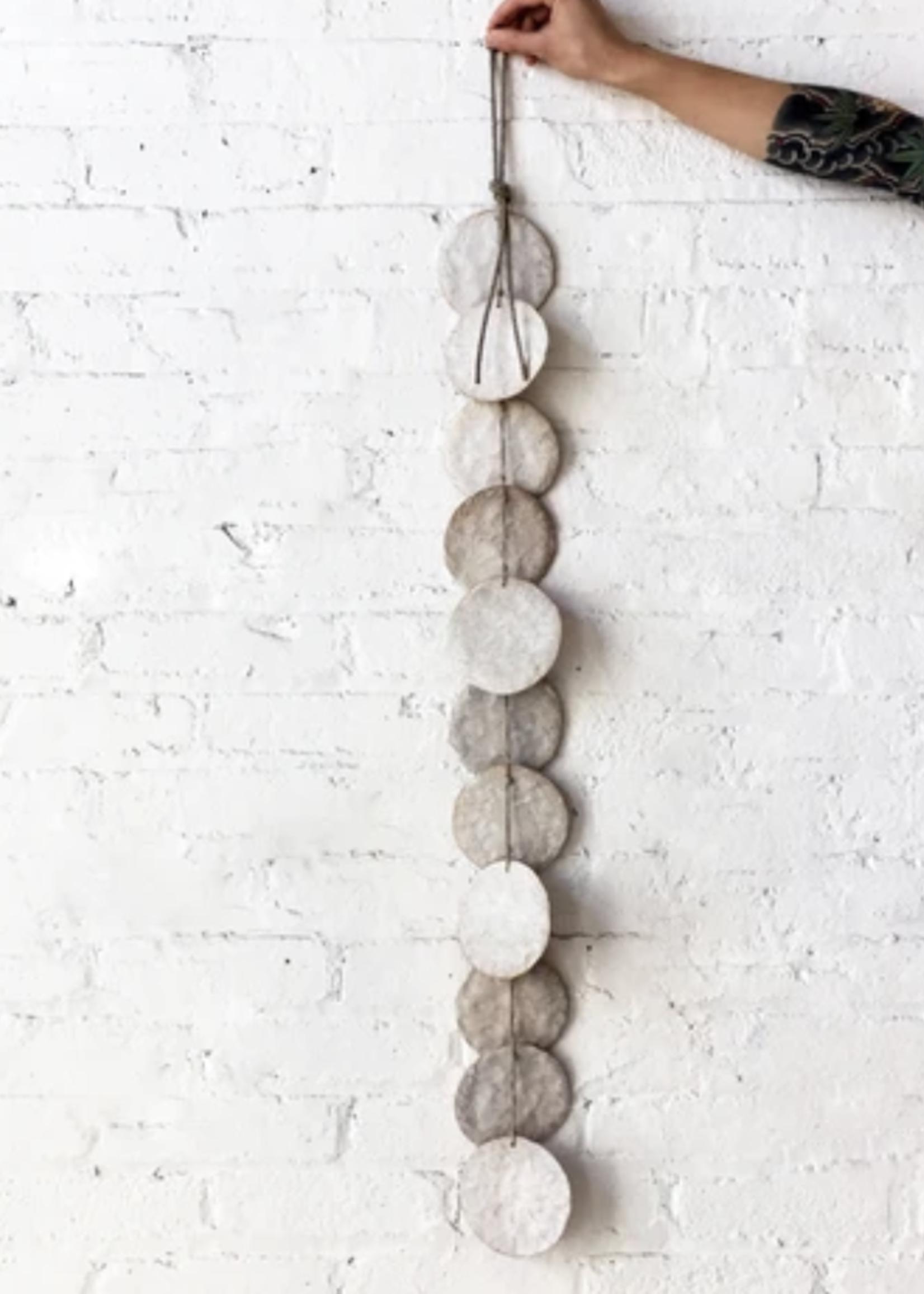 MQuan Single Strand Hanging Discs in White