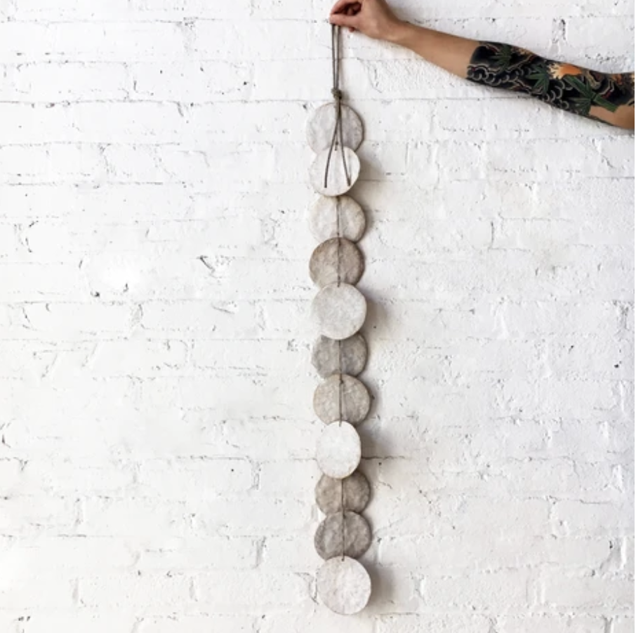 MQuan Single Strand Hanging Discs in White