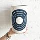 MQuan Rings Vase in Indigo