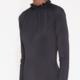 MM6 MAISON MARGIELA Gathered Neck Bodysuit in Black