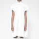 MM6 MAISON MARGIELA Ruffle Collar Poplin Shirt Dress in White