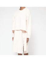 MM6 MAISON MARGIELA MM6 MAISON MARGIELA Layered Sweatshirt Dress in Blush