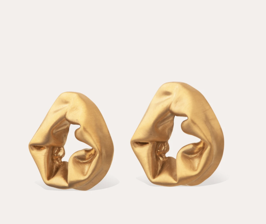 Completed Works Completed Works Scrunch Gold Vermeil Earrings