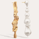 Completed Works Completed Works Crumple Mismatched Gold and Pearl Earrings