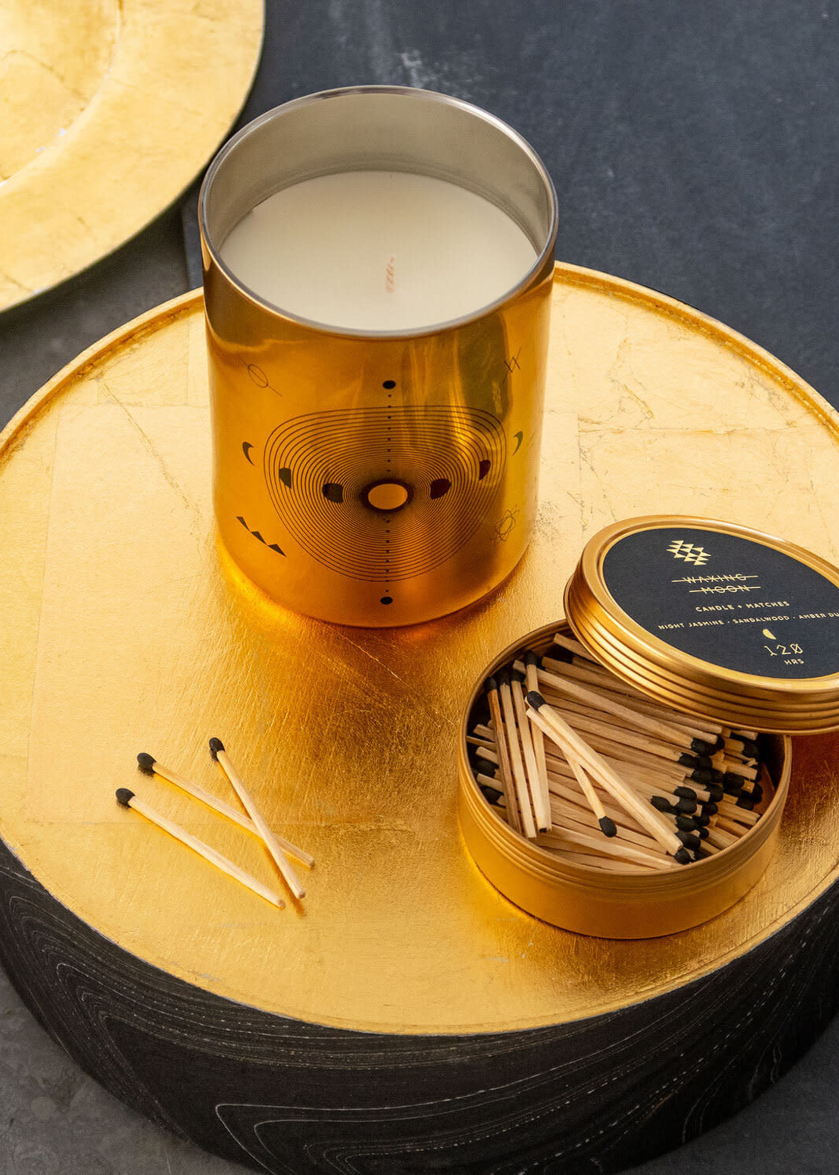 Waxing Moon Totem Candle with Matches