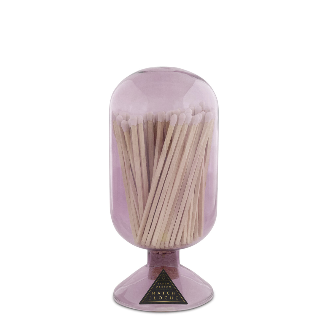 Match Glass Cloche in Violet