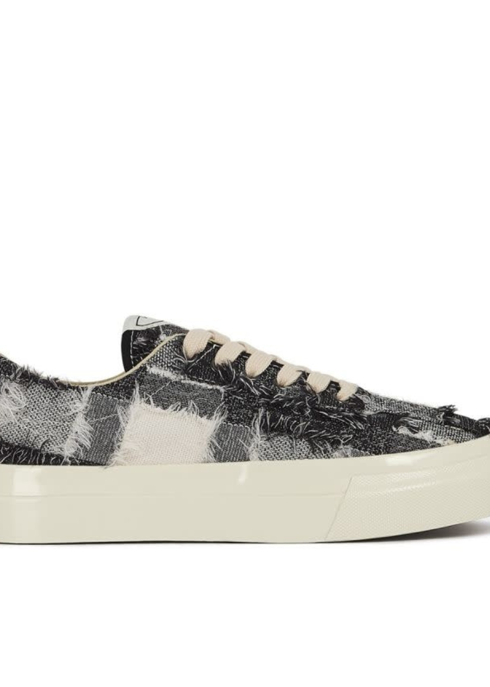 Stepney Workers Club Dellow Low Tops in Raw Thread Check