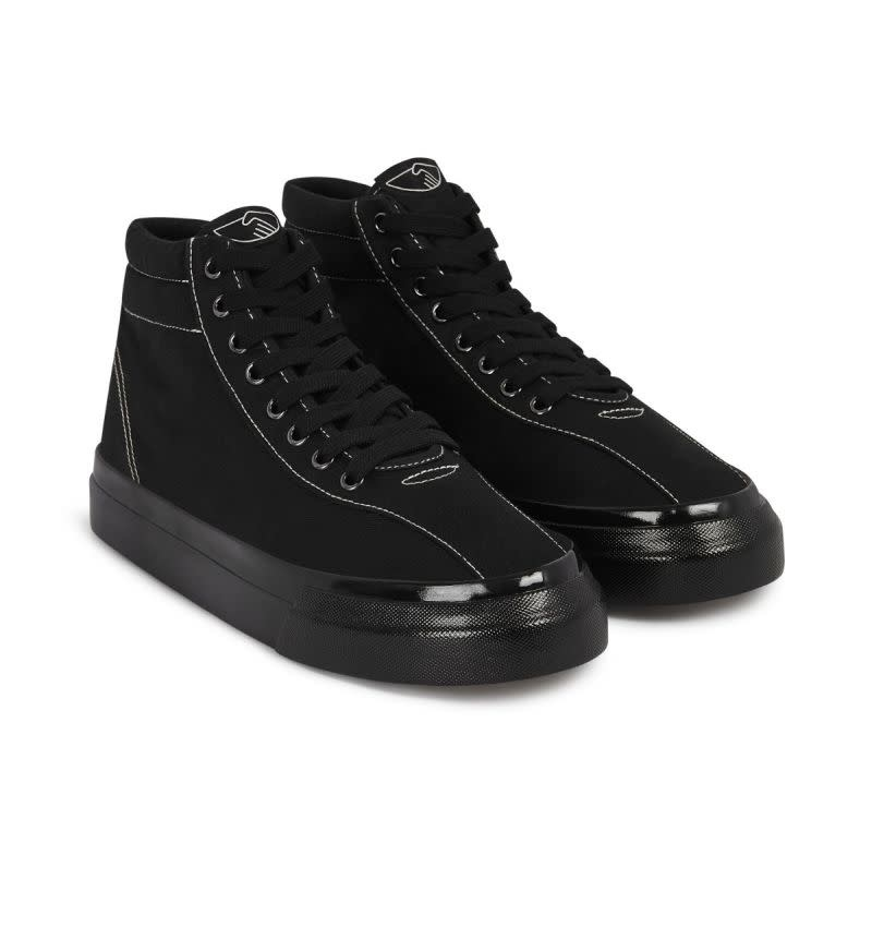 Stepney Workers Club Varden High-Tops in Black Canvas