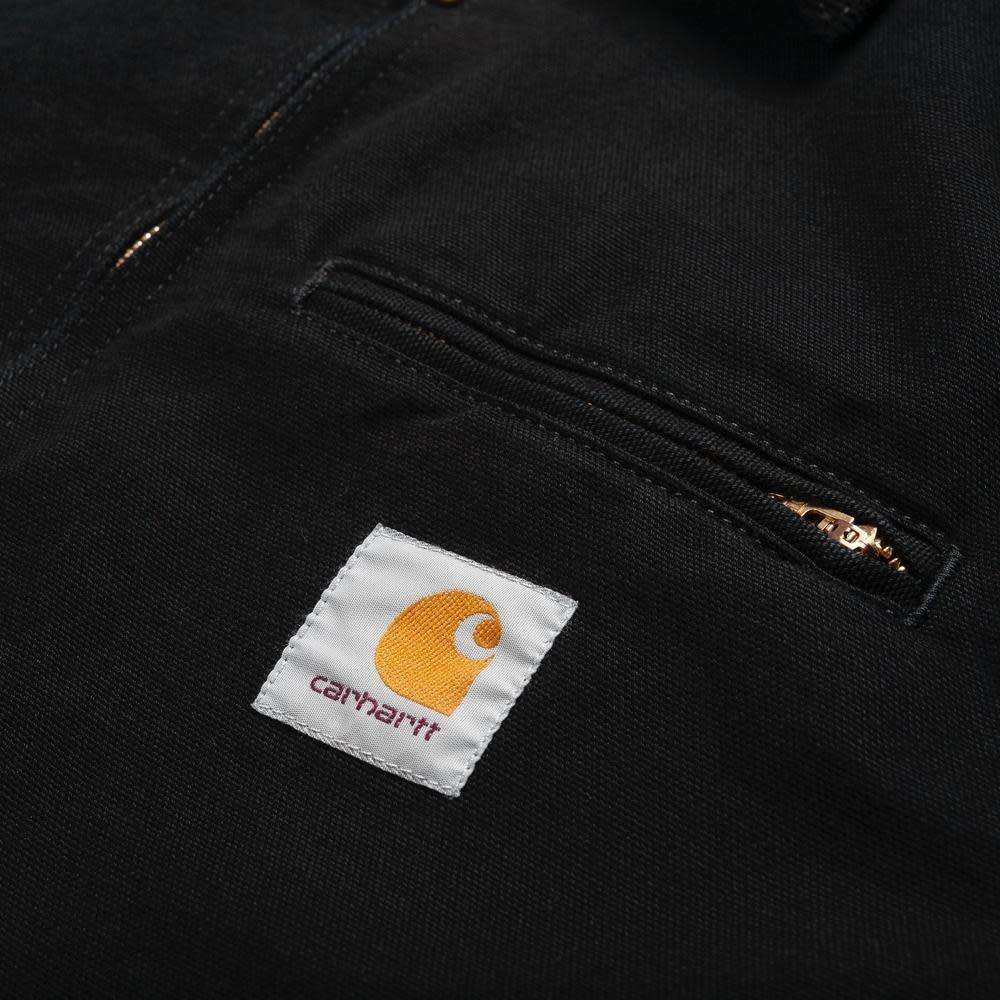 Carhartt Work In Progress Detroit Canvas Jacket in Black