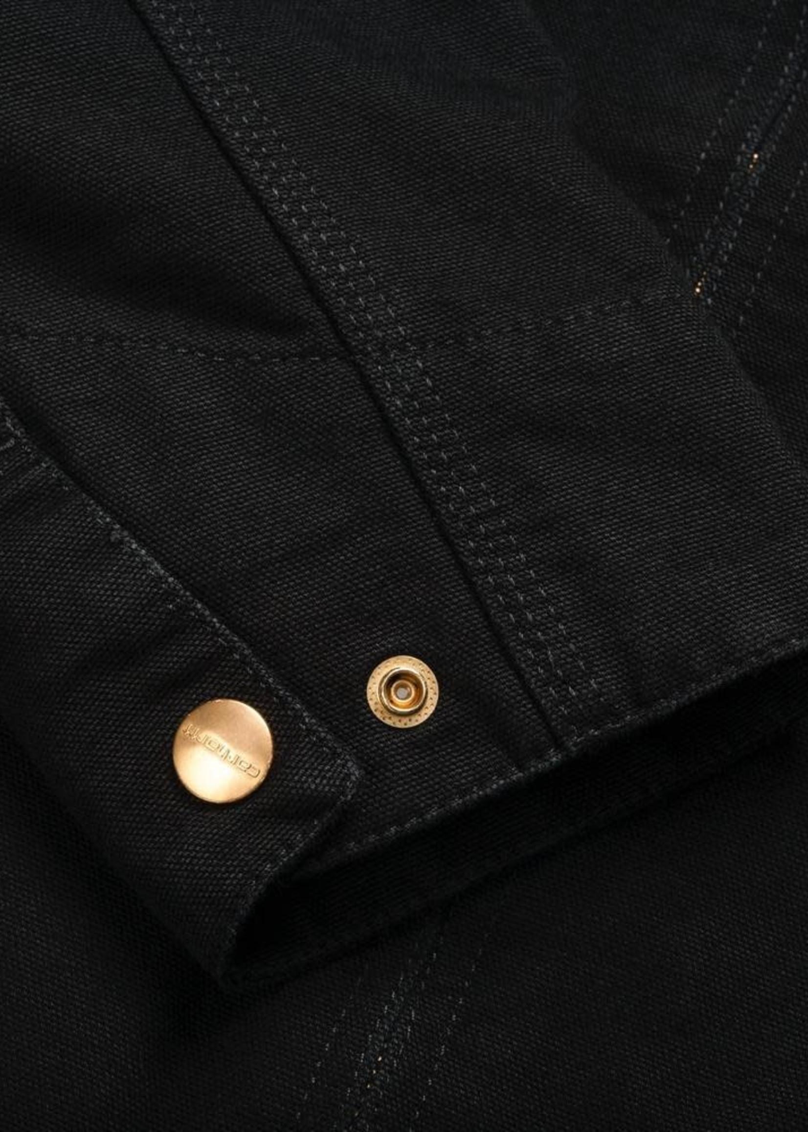 Carhartt Work In Progress Detroit Canvas Jacket in Black