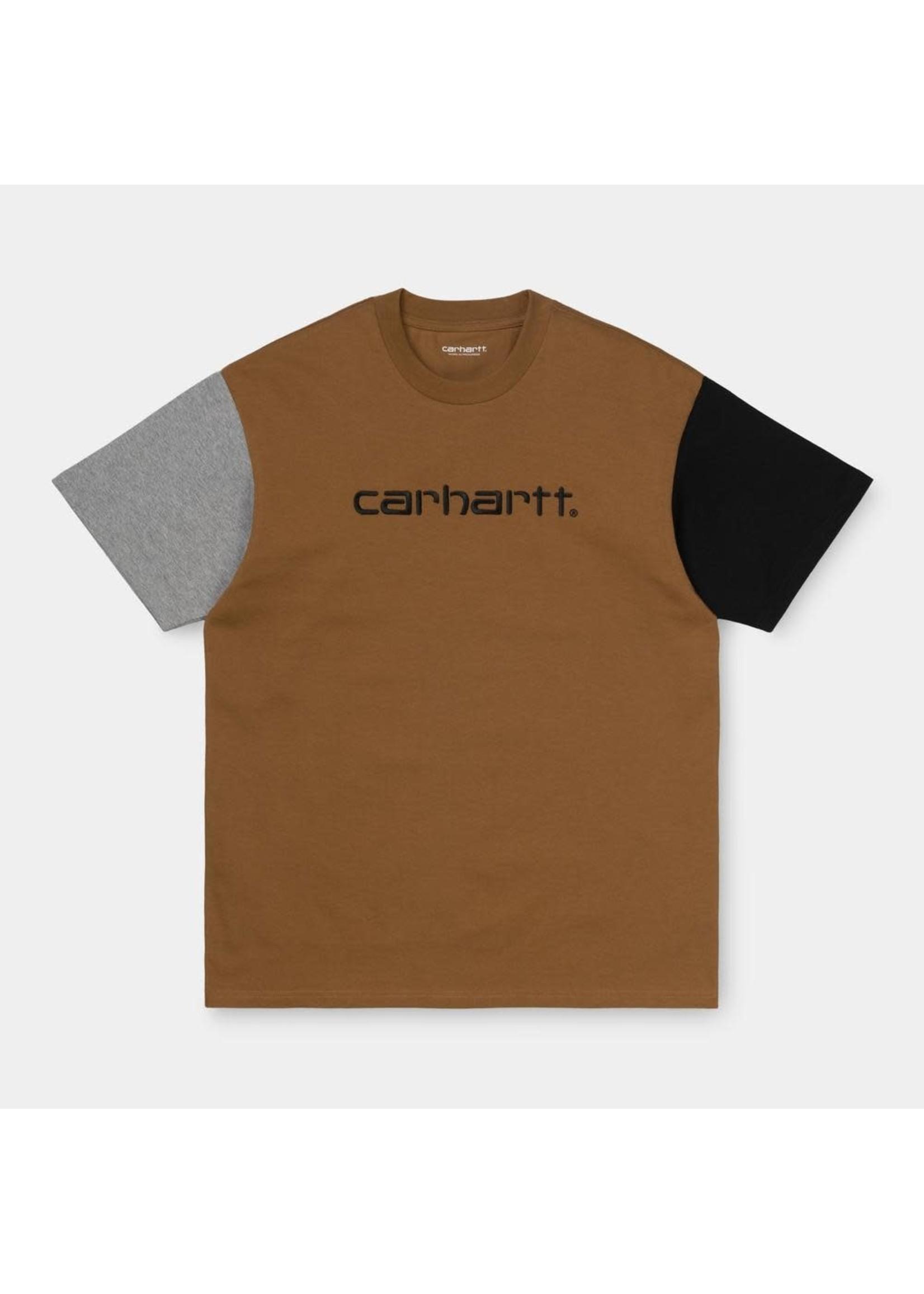 Carhartt Work In Progress Color blocked Logo T-shirt