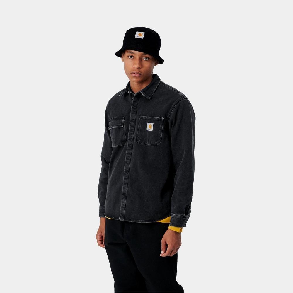 Carhartt Work In Progress Carhartt WIP Salinac Shirt Jacket in Stone Washed Black