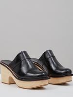 Rachel Comey Sapo Clog in Black Crinkle Patent