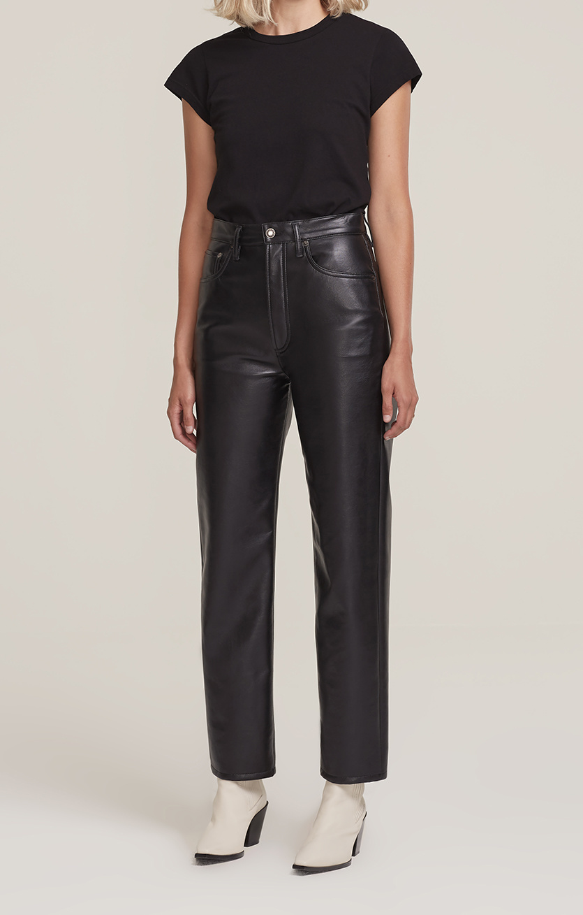 AGOLDE AGOLDE Recycled Leather 90's Pinch Waist in Detox