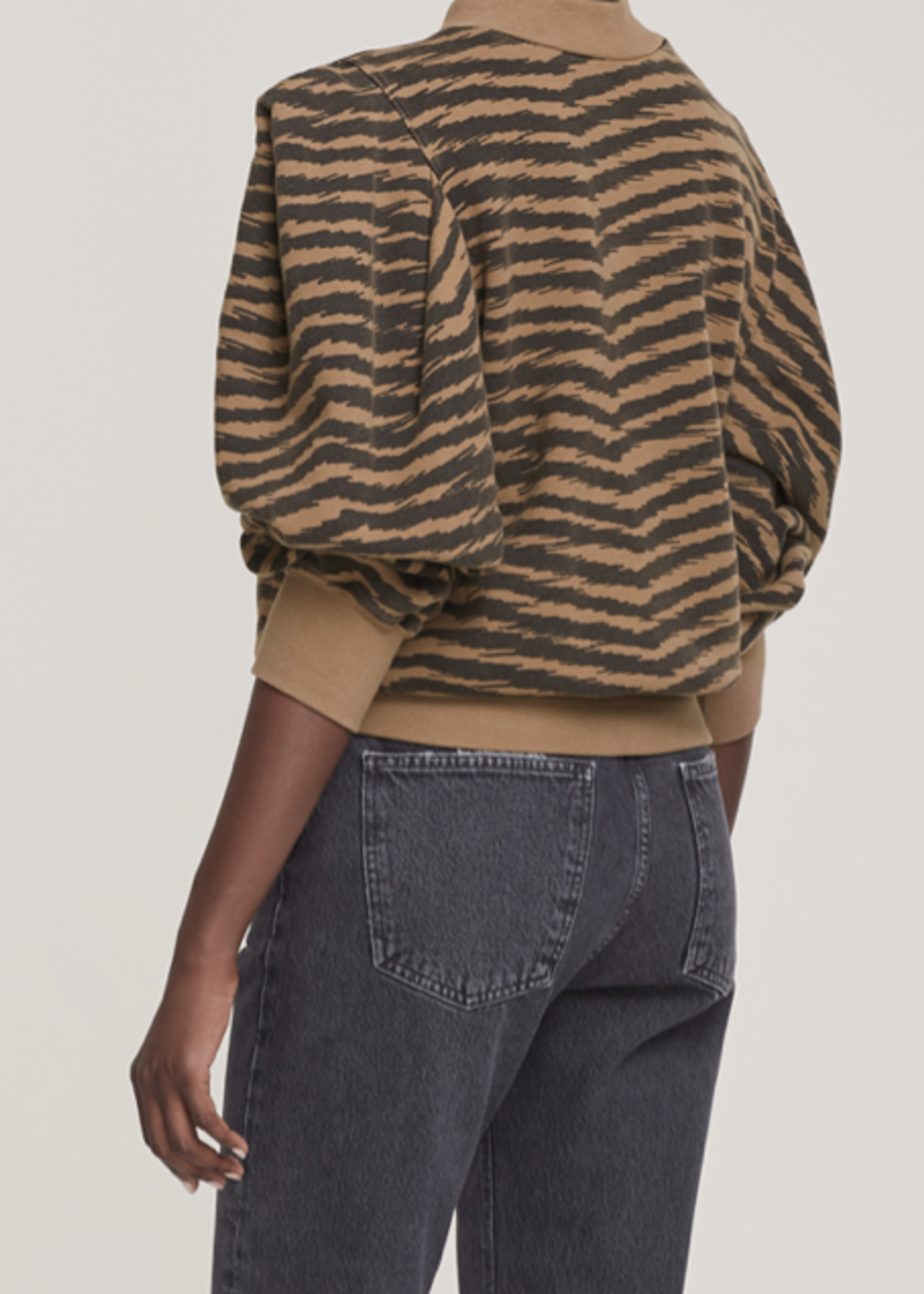 AGOLDE AGOLDE Fold Sleeve Sweatshirt in Serpentine