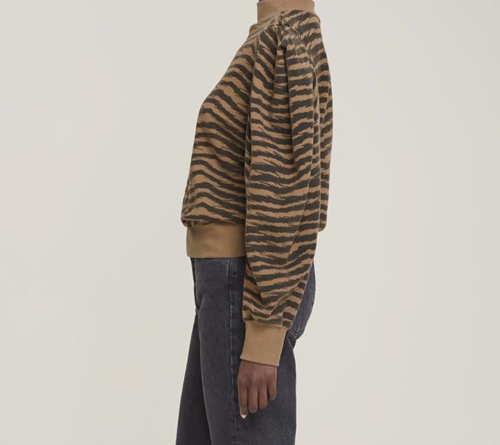 AGOLDE AGOLDE Fold Sleeve Sweatshirt in Serpentine