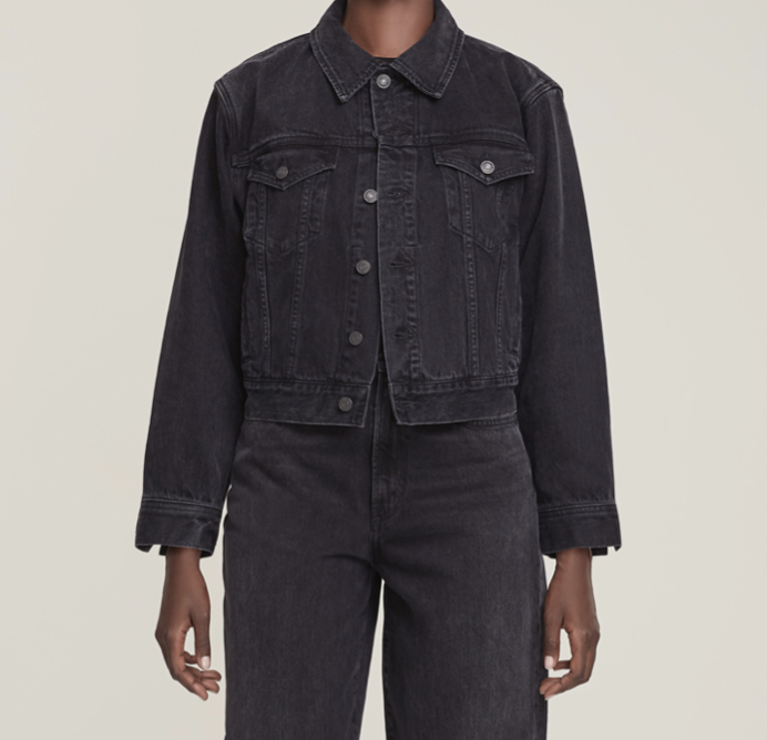 AGOLDE Blanca Denim Jacket in Double Exposure