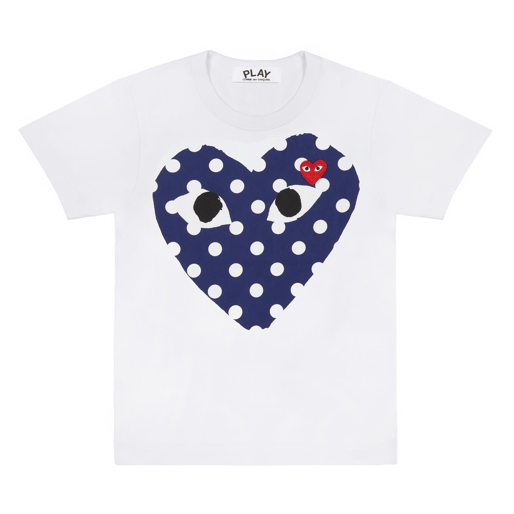 COMME des GARÇONS PLAY Women's Big Heart Polka Dot T-shirt