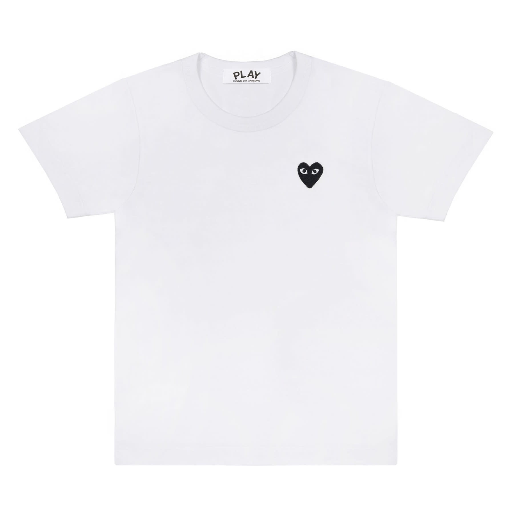 COMME des GARÇONS PLAY Black Small Heart T-shirt in White