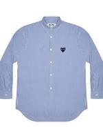 COMME des GARÇONS PLAY Comme des Garçons PLAY Blue Stripe Button Up Shirt